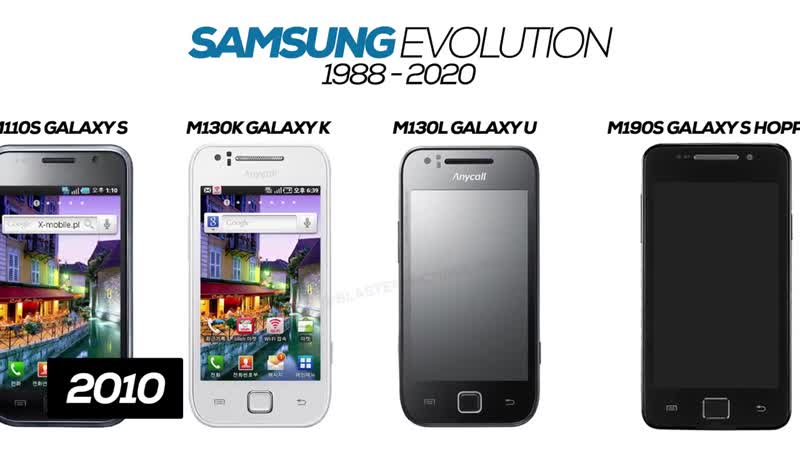 All Samsung Phones Evolution 1988 2020