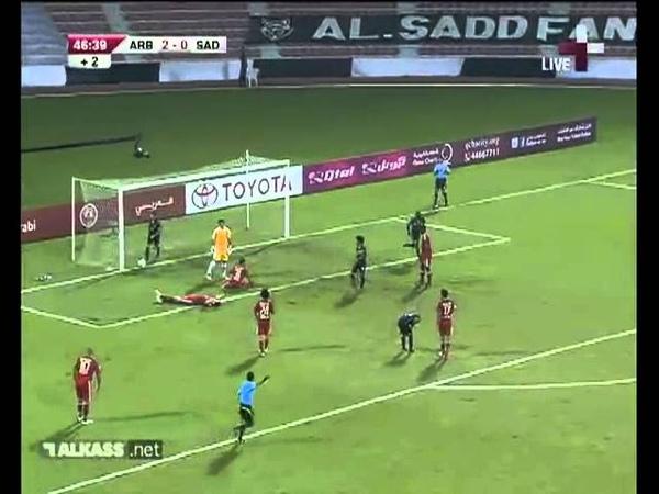 Аль Араби 4 2 Аль Садд Чемпионат Катара 2012 2013 12 тур