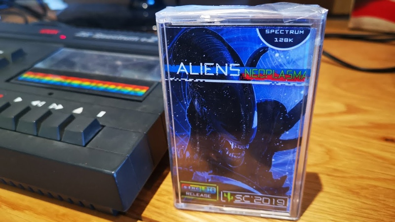 Aliens Neoplasma ZX Spectrum 128k Cassette overview and review