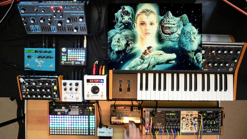 Jam w Synthstrom Deluge, Dreadbox Abyss, Moog Subsequent 37, Minitaur, Volca FM, Zoia, Strymon, H9