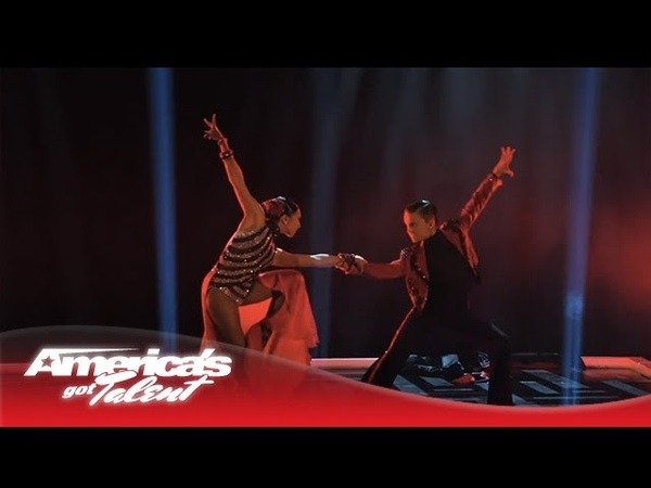 D'Angelo Amanda Duo Dazzle in Dance to Unstoppable America's Got Talent 2013