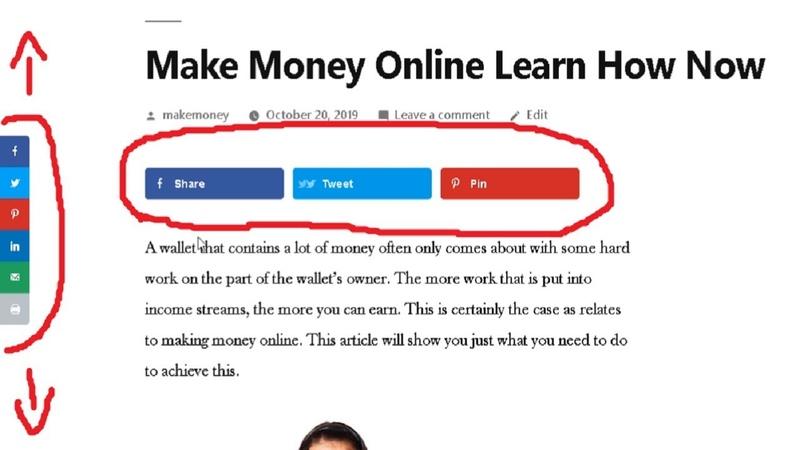 Free Social Share Wordpress Plugin Floating Social Sharing Buttons Social Pug Review Tutorial
