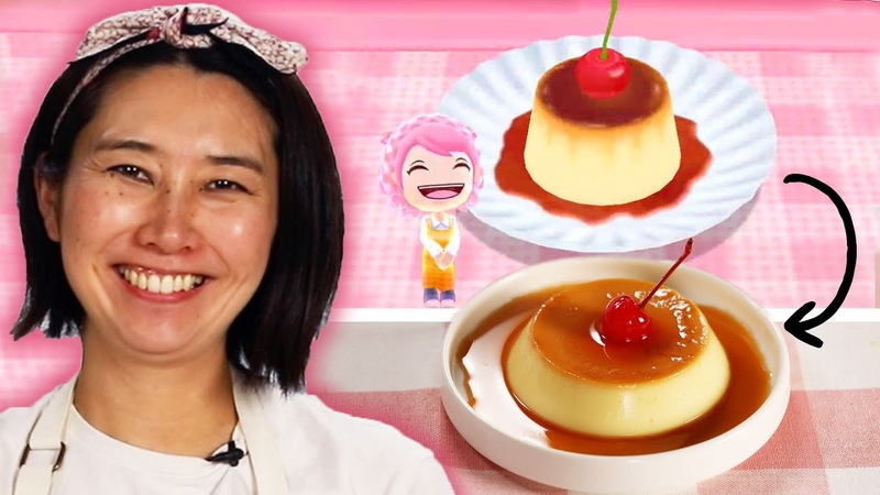 Rie Tries to Recreate The Pudding Recipe From Cooking Mama Tasty
