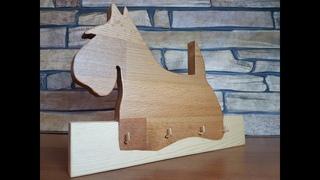 Dog Key keeper of wood DIY ключница собака из дерева своими руками