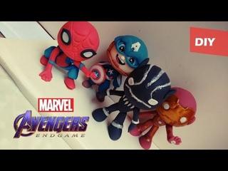 Los vengadores | Tutorial ° Capitán América - Spiderman ° Porcelana fría - Plastilina - Polymer clay