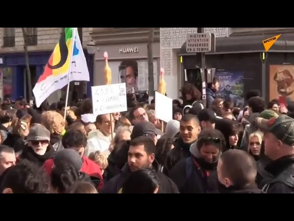 Paris Streik von französischen Gewerkschaften gegen Rentenreform
