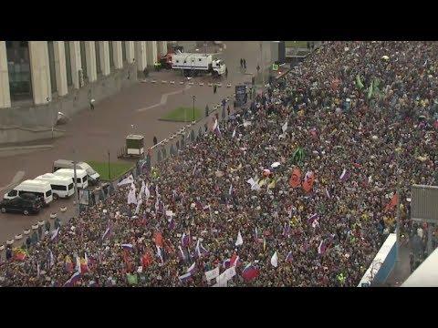 Митинг в Москве ОТПУСКАЙ Проспект Сахарова LIVE 29 09 19