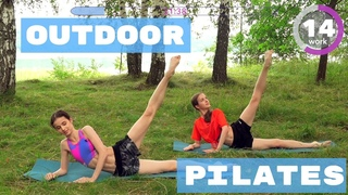 OUTDOOR PILATES WORKOUT for LEGS & CORE ballet inspired