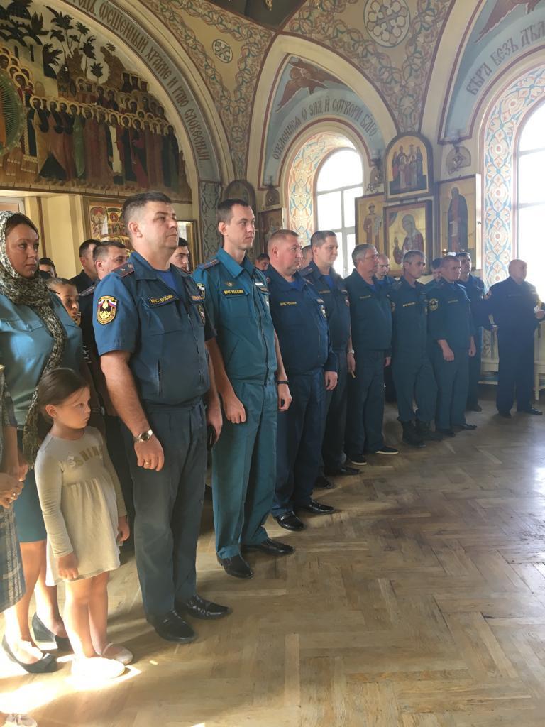 Пожарные 6 отряда ФПС приняли участие в благодарственном молебне в честь образа Божьей Матери «Неопалимая Купина»
