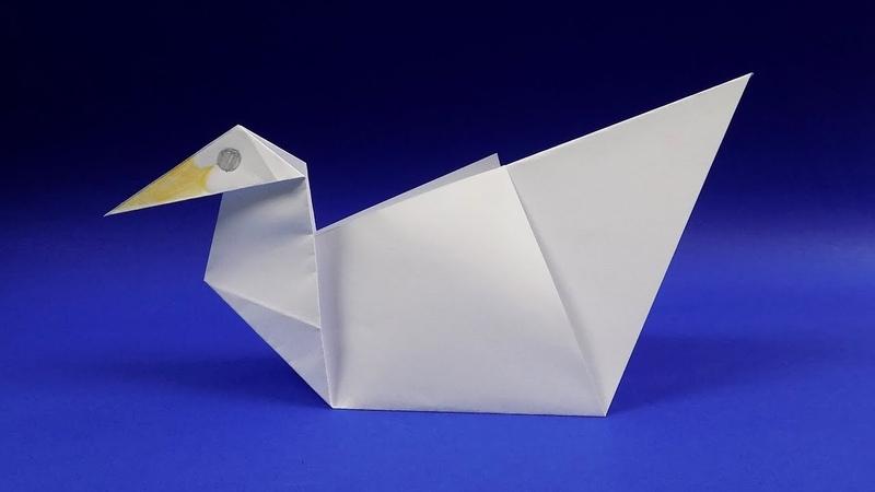 Как сделать утку из бумаги своими руками Оригами из бумаги для начинающих самые легкие