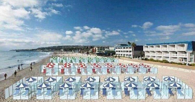Дизайнеры уже продумывают варианты «пост-ковидной» реальности для пляжей и ресторанов
