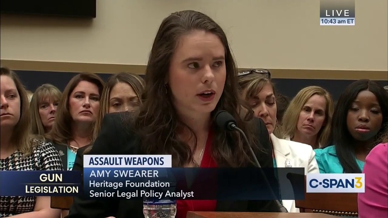 """THAT is why law abiding citizens buy millions of these firearms """" Amy Swearer To House Judiciary"""