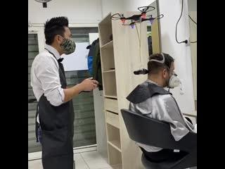 - droneadventures парикмахер будущего