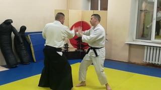 Aikido circular movements with hands