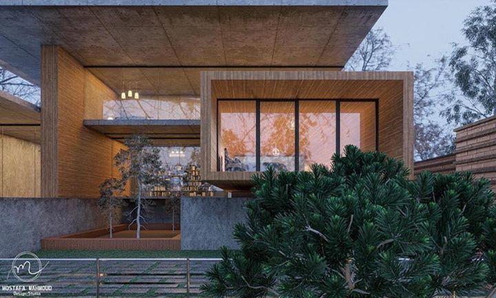 Spring villa visualization by Mostafa Mahmoud Design Studio.
