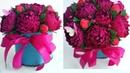 Букет из конфет/пионы из бумаги/цветы в коробке из бумаги/diy
