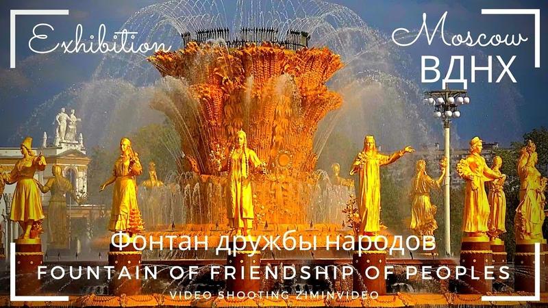 ВДНХ Фонтан дружбы народов Fountain Friendship of Peoples सुंदर फव्वारा 美麗的噴泉 美しい噴水 ziminvideo