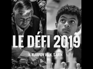 Battle of Generations - Nihal Sarin vs Anatoly Karpov match, Cap D'Adge 2019