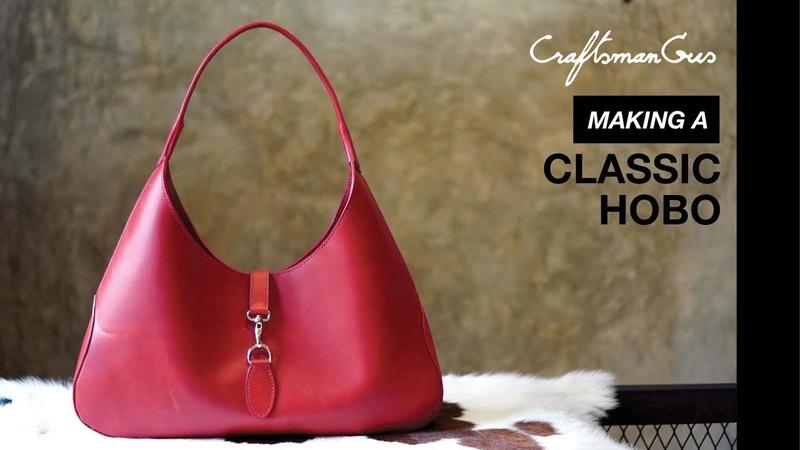 Classic Hobo bag making LeatherAddict EP71 with Narration