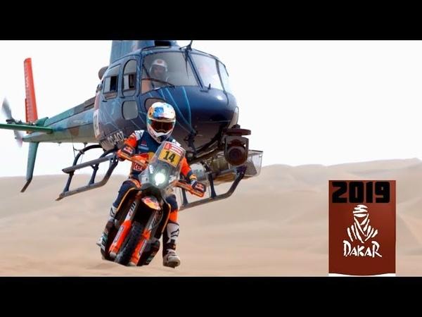 Dakar 2019 mejores momentos de motos Parte 1 HD