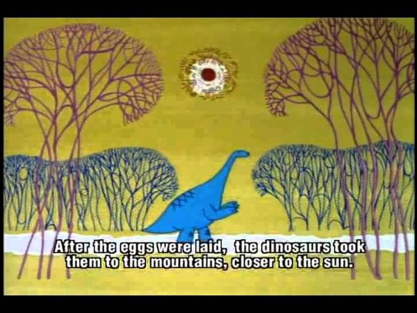 Masters of Russian Animation 1967 Mountain of Dinosaurs by Rasa Strauntamane russub eng