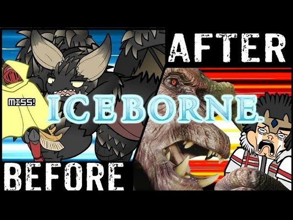 MHWorld Shots Before and After Iceborne Monster Hunter World Iceborne experience