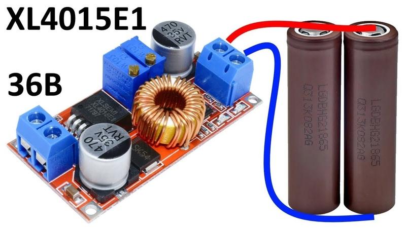 Понижающий DC-DC преобразователь XL4015E1 с регулировкой тока и напряжения: контроллер заряда Li-Ion