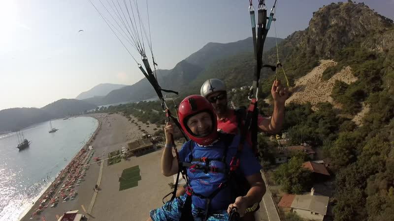 Наш полет на параплане с горы Бабадаг на пляж Олюдениз Турция Фетхие