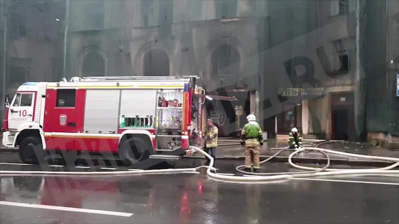 Пожар на Большой Пушкарской улице