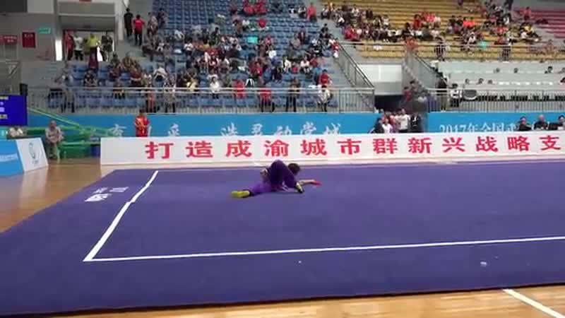 Mens Jiu jie bian 男子九节鞭 第一名 安徽队 李明杰 8 90分 an hui li ming jie YouTube 360p