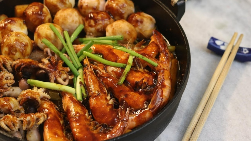 Easy Seafood Hot Pot Stew 海鲜焖锅
