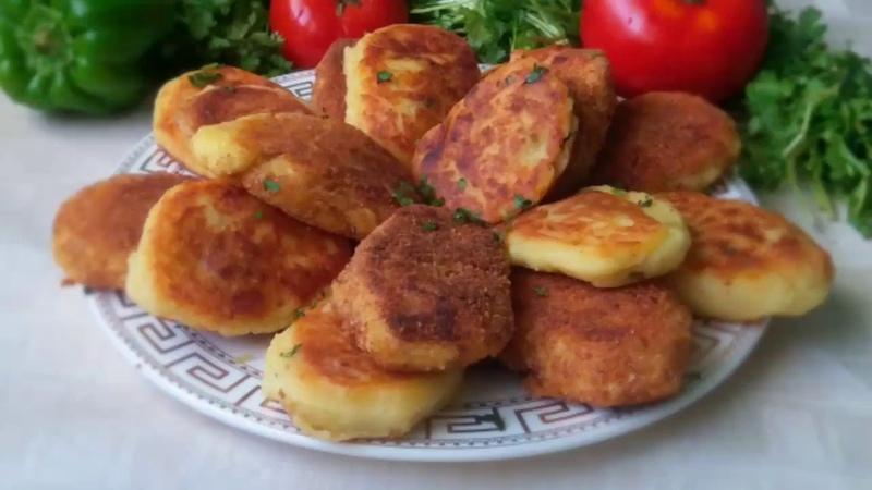 Potato Cutlets with ground meat / Картофельные зразы с мясным фаршем / English subtitles