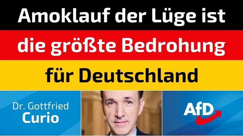 Gottfried Curio AfD Amoklauf der Lüge ist die größte Bedrohung für Deutschland