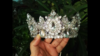 How to make wedding crystal crown - DIY (6)