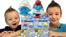 Смурфики машемс рапаковка игрушек. Unboxing surprises Smurfs toys Видео для детей Игрушки Смурфики