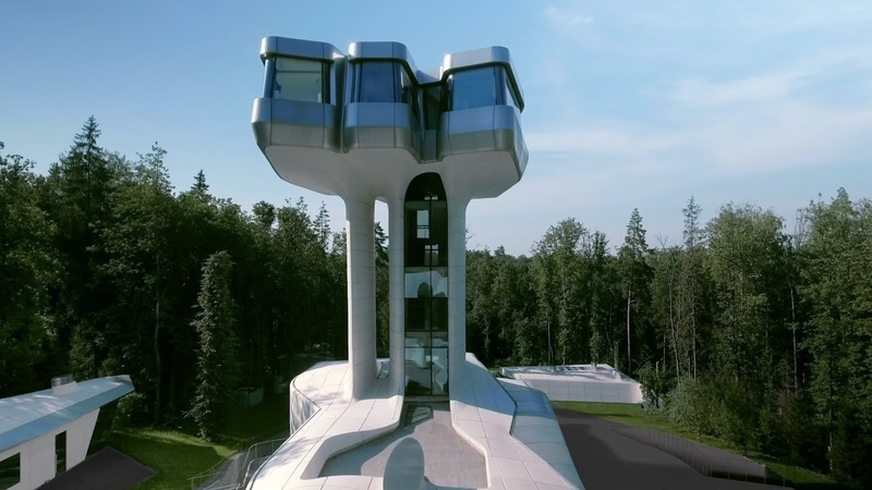Zaha Hadid s only house finally completes in Russian forest