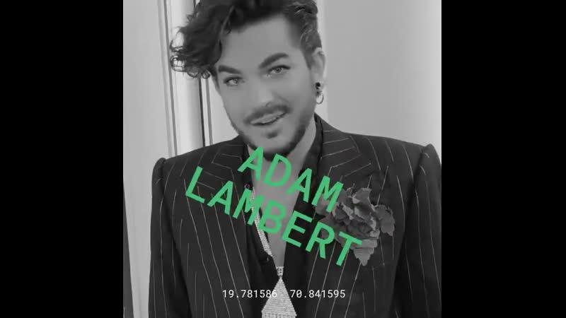 Adam Lambert promo clip on Youtubemusic for his new album VELVET SIDE A