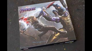 (book flip) Marvels Avengers Endgame - The Art of the Movie