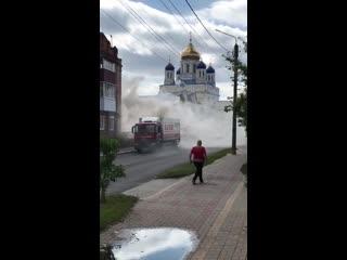 В Ельце загорелся грузовик Магнита