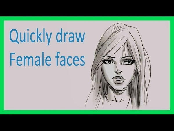 How to draw a female face - Quick method for comics, manga, or realism