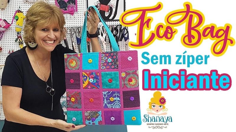 Eco Bag - Use seus retalhos - Não é patchwork!