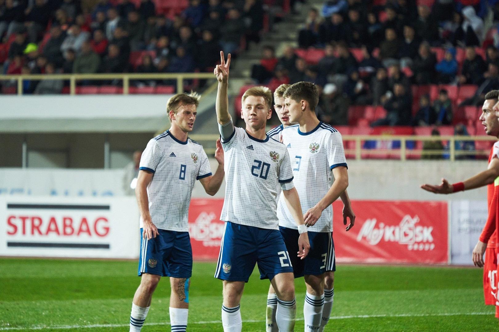 Глушенков, Рассказов и Умяров помогли молодежке победить в Сербии (Видео)