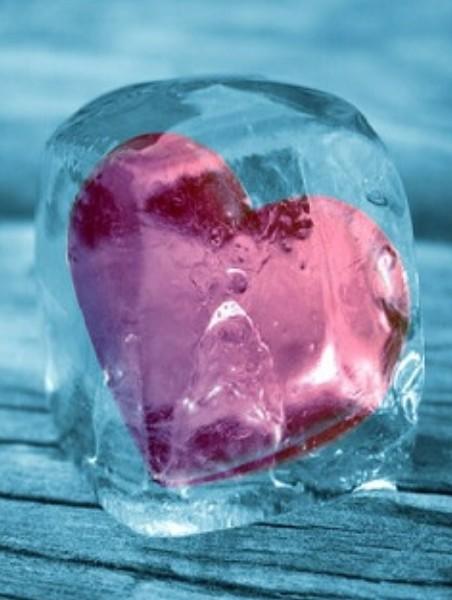 Фото ледяное сердце как лед