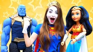 Video e giochi divertenti. Le avventure dei supereroi. Nuovi episodi con i Clowns