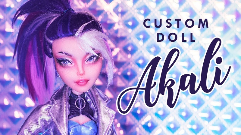 KDA Akali from League of Legends • Collab with Moonlight Jewel • Custom Doll Tutorial