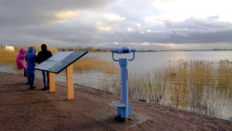 Кронштадт смотровой бинокль в парке Остров фортов