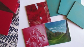 "Картина ""Горы"" для Etsy! Мои первые картины на продажу! Painting for Etsy! First paintings for sale!"
