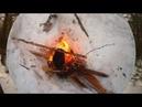 Охота на изюбря__Тайга-Чай у костра -Лайки в глубоком снегу .