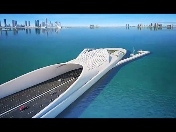 The Doha Sharq Crossing Qatar Extraordinary Mega Project Most Beautiful Bridge In Middle East