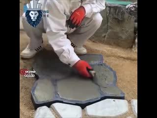 Форма для изготовления тротуарного камня